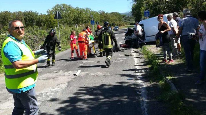 Incidente stradale nel viterbese, gravemente feriti due automobilisti