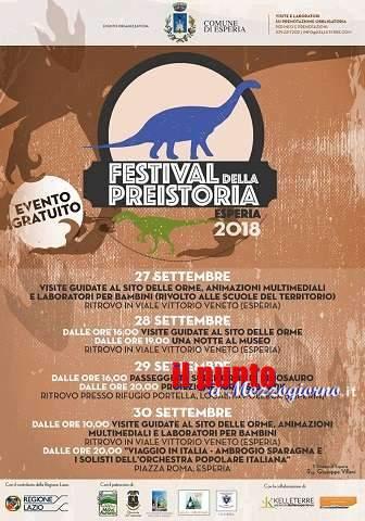 Torna ad Esperia il Festival della Preistoria dal 27 al 30 settembre