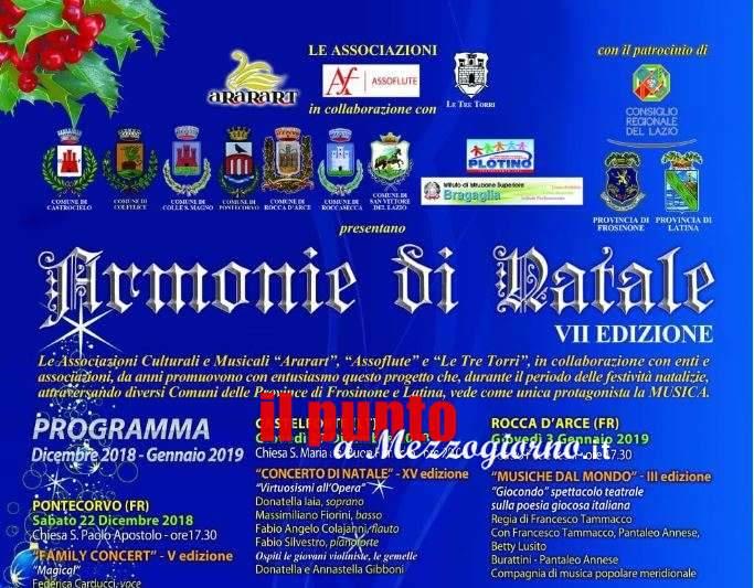 """""""Natale in Armonia"""" a San Vittore del Lazio, oggi la presentazione"""