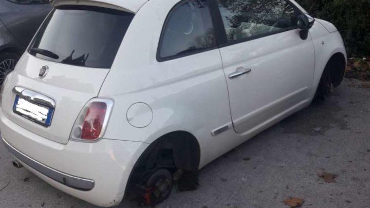 Cassino, i ladri di ruote delle auto colpiscono ancora