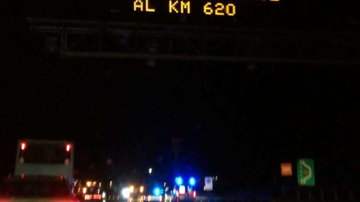Incidente in autostrada tra Colleferro e Anagni, un morto