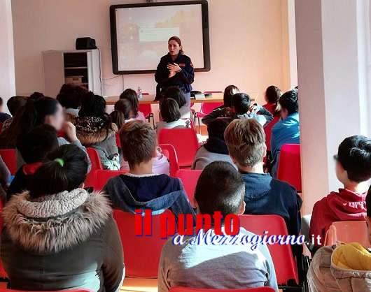 """A scuola di legalità con la polizia, a Pontecorvo e alla scuola primaria """"Pio Di Meo"""" di Cassino"""