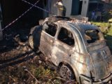 Incendio garage a Lariano, distrutta