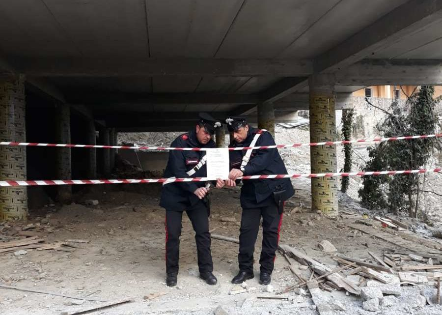 San Biagio Saracinisco, i carabinieri sequestrano il parcheggio multipiano
