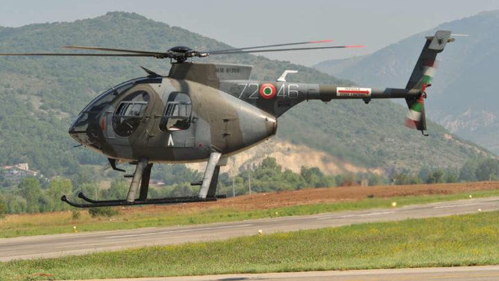 Atterraggio precauzionale per un elicottero militare del 72° Stormo di Frosinone