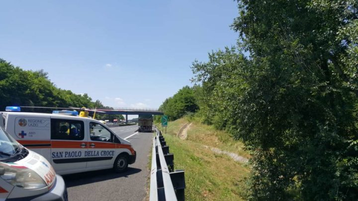 Incidente in autostrada tra Cassino e Pontecorvo. Un ferito grave