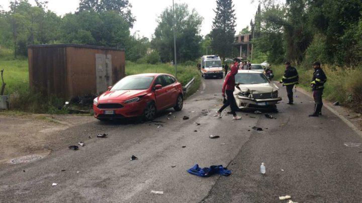 Cassino, grave incidente a Sant'Angelo. Intervento dell 'eliambulanza