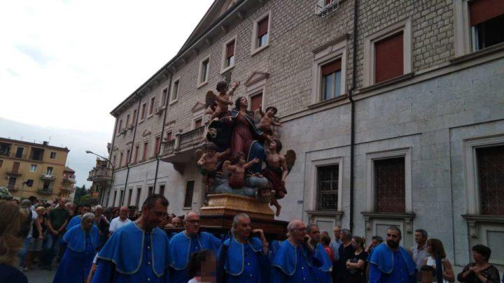 Cassino: Emozione e preghiera per la Madonna dell'Assunta. Processione del 9 luglio