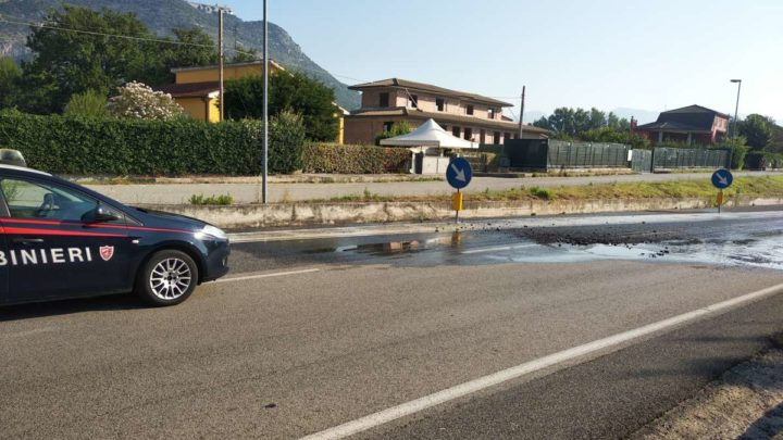 Due grosse perdite d'acqua in poche ore a Cassino, disagi al traffico