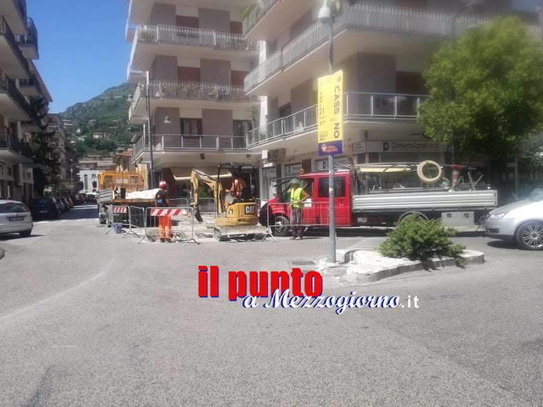Cassino, dopo l'interruzione idrica di ieri, oggi 'nuova falla' in largo Dante