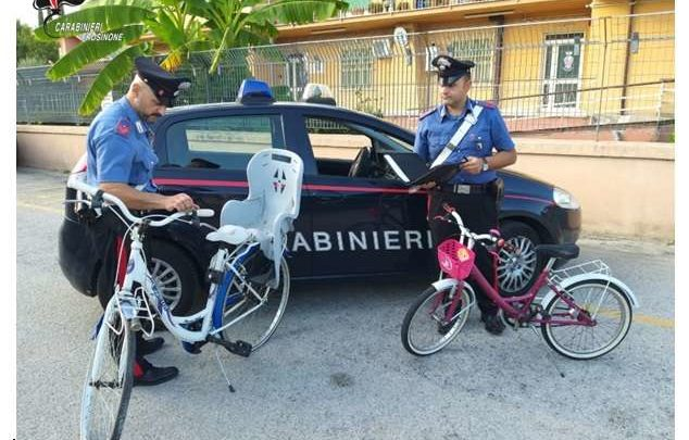 Ladri di biciclette ad Aquino, denunciati due stranieri