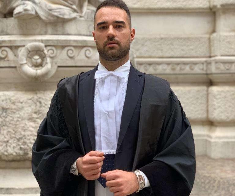 Manuel Varesi di Lanuvio, a 25 anni è l'avvocato più giovane d'Italia