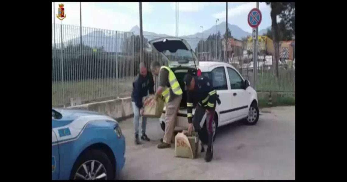 Sorpreso in auto con oltre 60 chilogrammi di Hashish, arrestato dalla Polizia Stradale