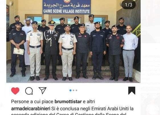 I Carabinieri dell'Isti di Velletri negli Emirati Arabi per addestrare di agenti di Abu Dhabi