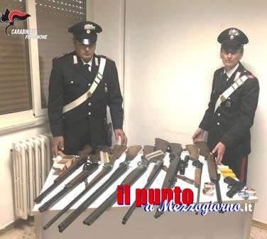 Litiga e minaccia la cognata, sequestrati nove fucili ed una pistola ad un 62enne