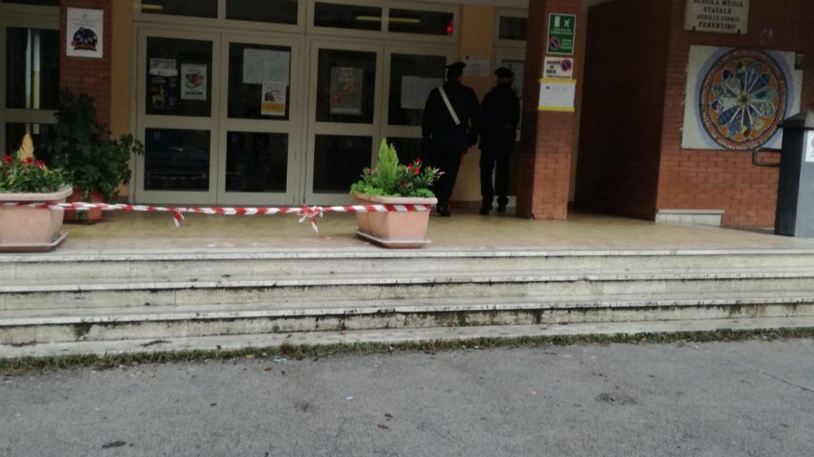 Furti nelle scuole, arrestato un 26enne a Ferentino
