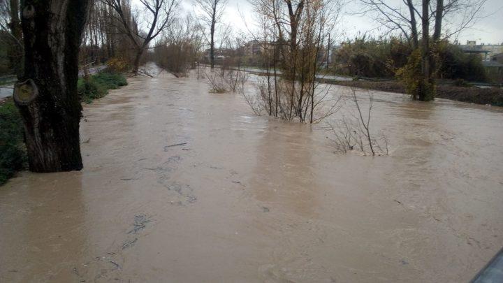 Maltempo a Cassino, il fiume Rapido mette paura e le previsioni meteo non fanno ben sperare