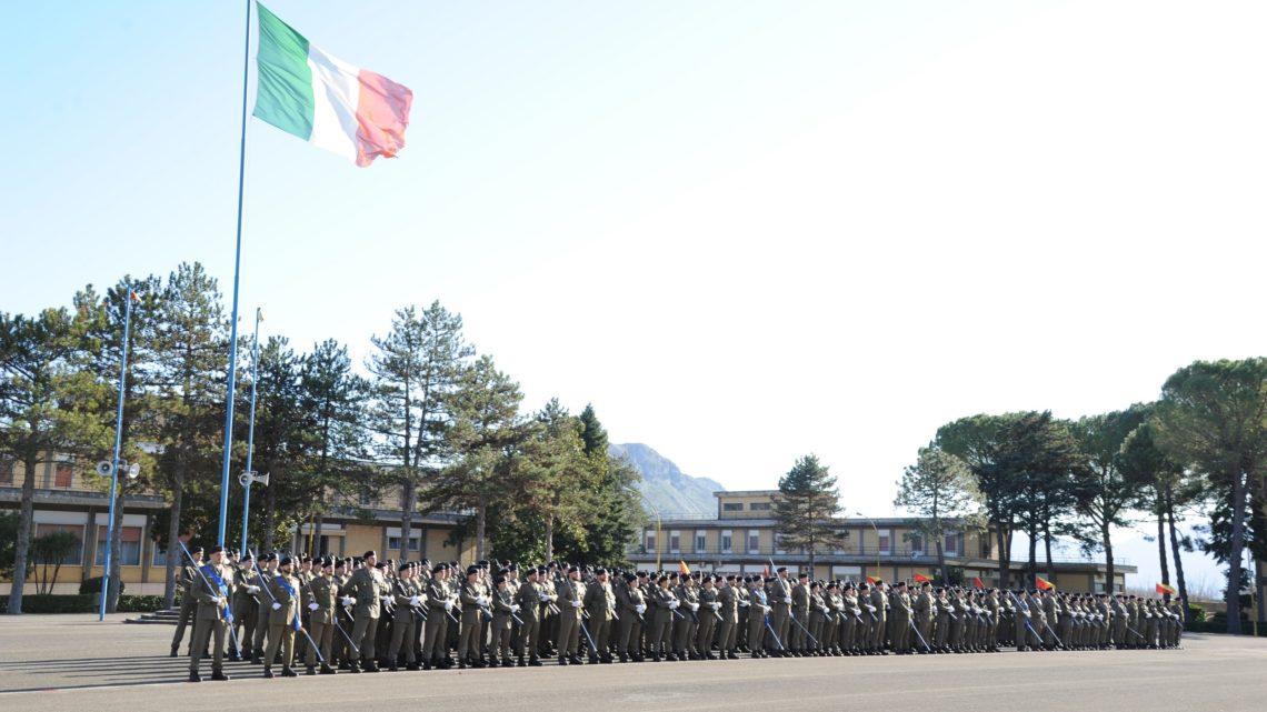 Cerimonia nella caserma Lolli Ghetti di Cassino, giurano 267 volontari in ferma prefissata