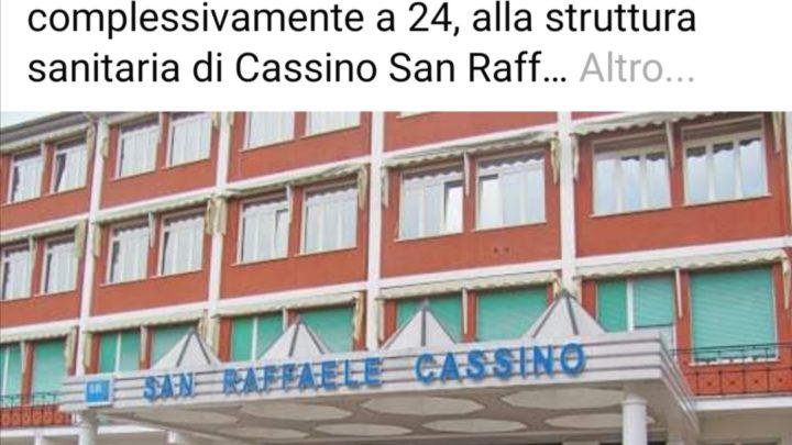 "Cassino – Coronavirus – Il sindaco Salera: ""Altri 8 positivi al San Raffaele"""
