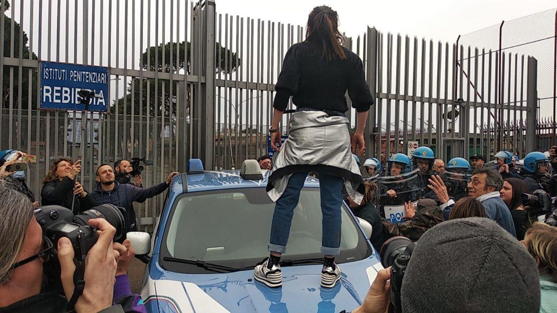 Il coronavirus fa scoppiare proteste nelle carceri del Lazio, tensione a Rebibbia