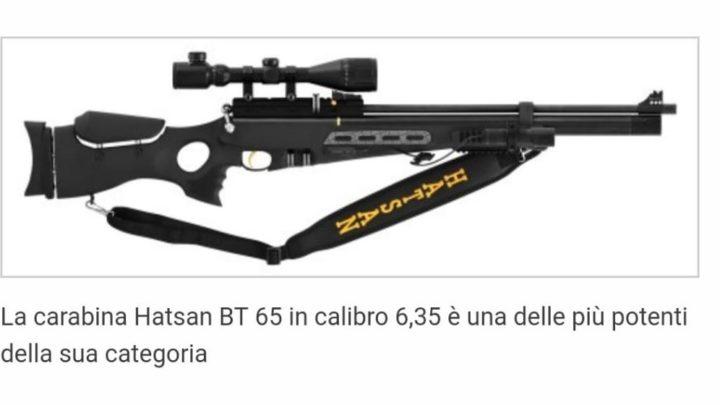Fa il cecchino con carabina aria compressa e ferisce commerciante, denunciato 39enne di Castelliri