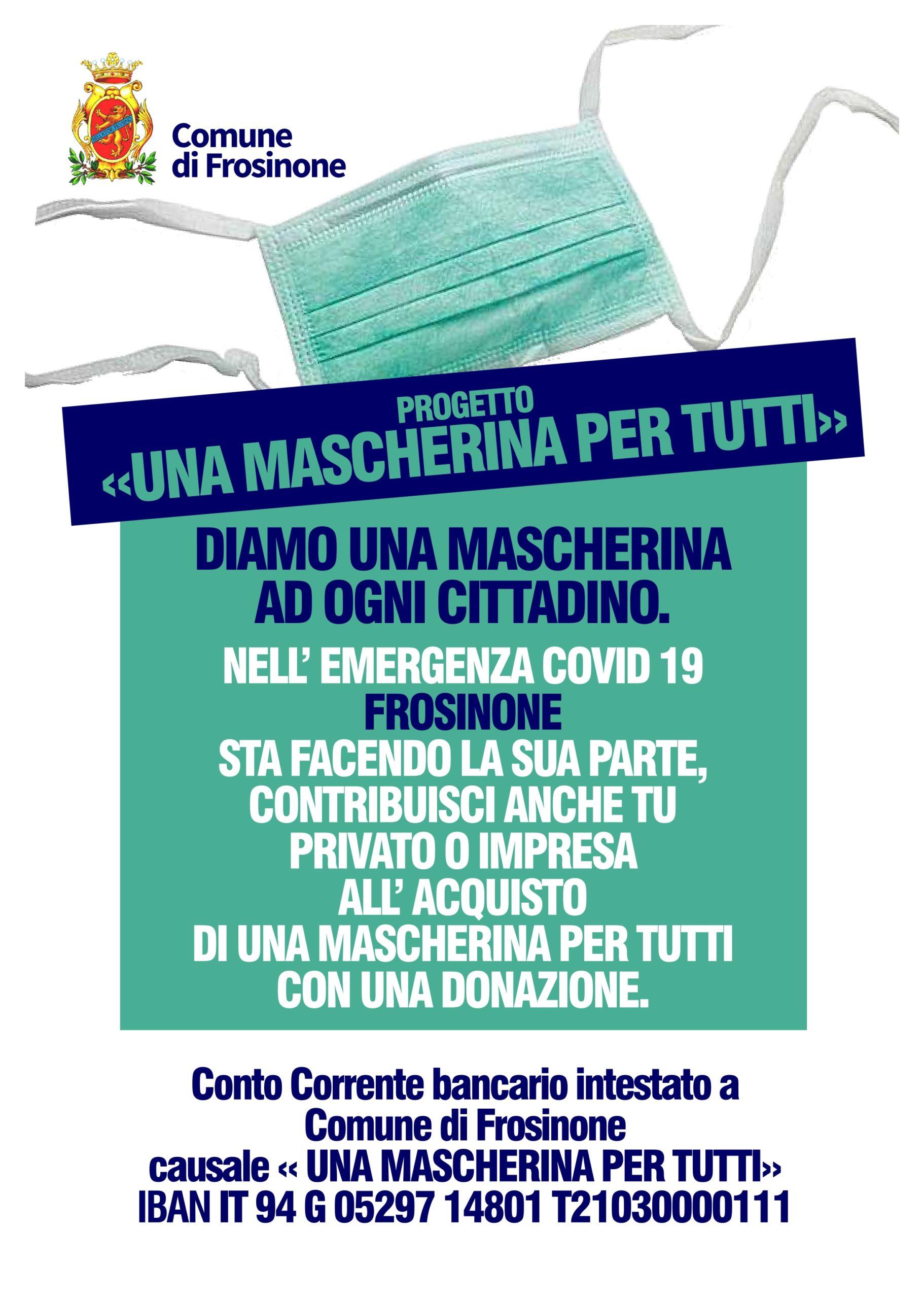 Impresa In Un Giorno Frosinone frosinone: nuova distribuzione delle mascherine nelle abitazioni