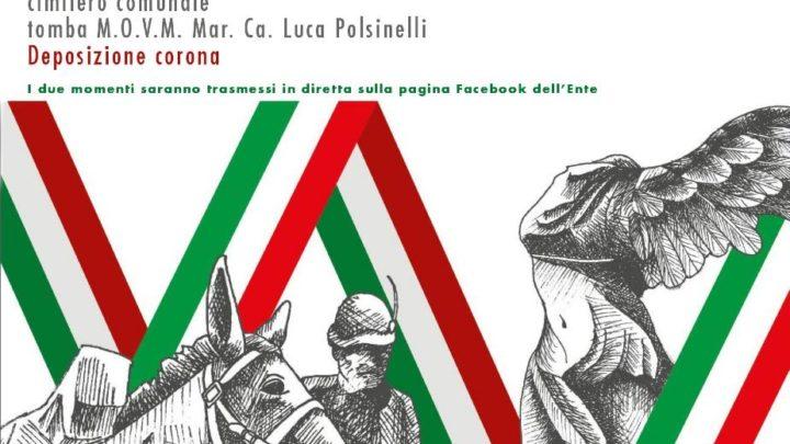 Martedì 5 maggio 2020 Sora celebrerà il 14esimo anniversario della scomparsa del Maresciallo Capo Luca Polsinelli