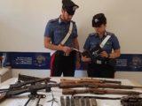 Roma – Arsenale da guerra nel sottotetto, sequestrati armi e munzioni del secondo conflitto mondiale