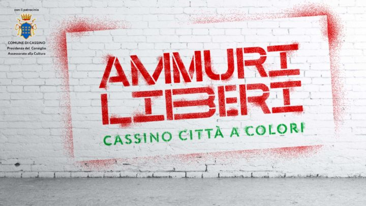 """Cassino città a colori, il talento di writers locali ed internazionali con il progetto """"Ammuri Liberi"""""""