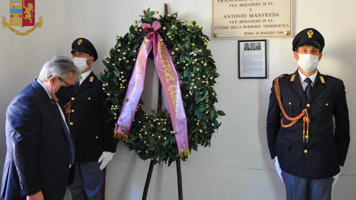 40esimo anniversario dell'uccisione dell'appuntato Francesco Evangelista, vittima di un commando terrorista dei Nar