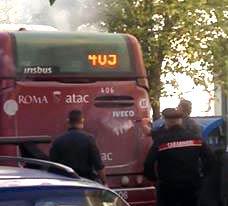 Fumo sul Bus di linea a Roma, paura per un pontecorvese