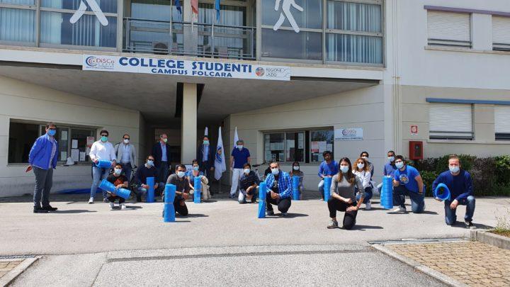 Cus- Cassino consegna i tappetini agli studenti del Campus. Calce annuncia la data dei C.N.U.