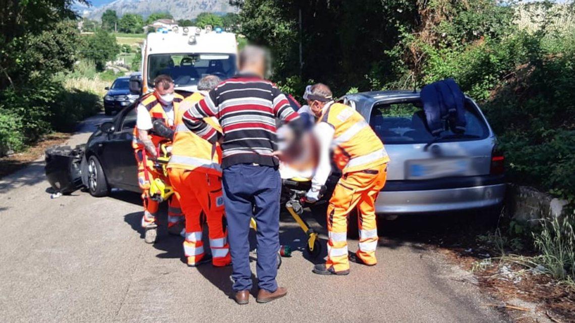 Cassino – Incidente stradale in via Solfegna, un ferito