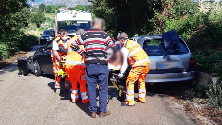 Cassino – Incidente stradale in via Solfegna, un ferito