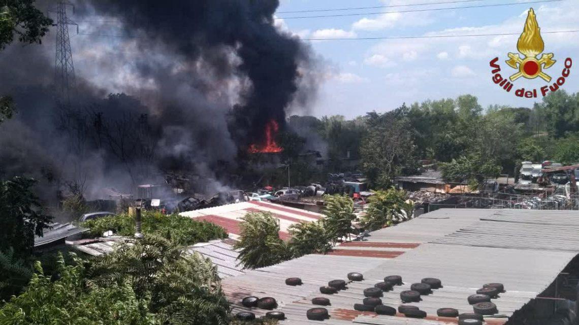 Incendio Loas di Aprilia, sindacati vigili del fuoco chiedono screening operatori