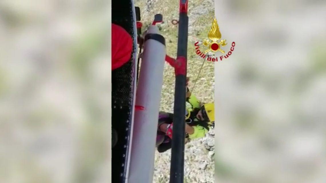 Formia – Tre escursionisti in difficoltà sul Monte Redentore recuperati con l'elicottero dai vigili del fuoco