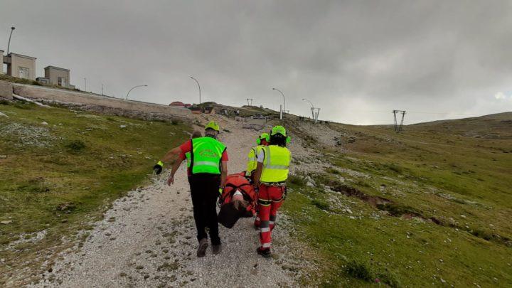 Campocatino – Si infortuna sul sentiero, recuperata dall'eliambulanza e dal Soccorso Alpino