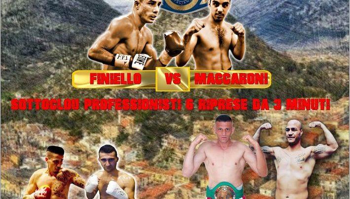 Boxe, a Sora il Campionato Italiano pesi leggeri Finiello – Maccaroni