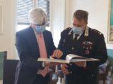 Pompeo incontra il neo comandante dei carabinieri di Frosinone Pannone
