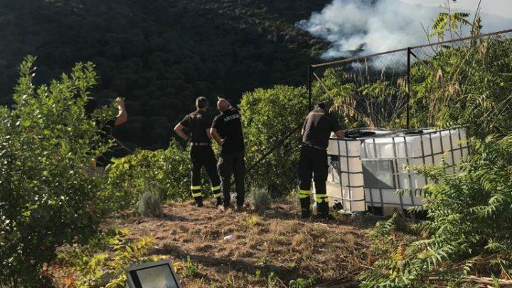 Incendio nel Parco Regionale di Montecassino