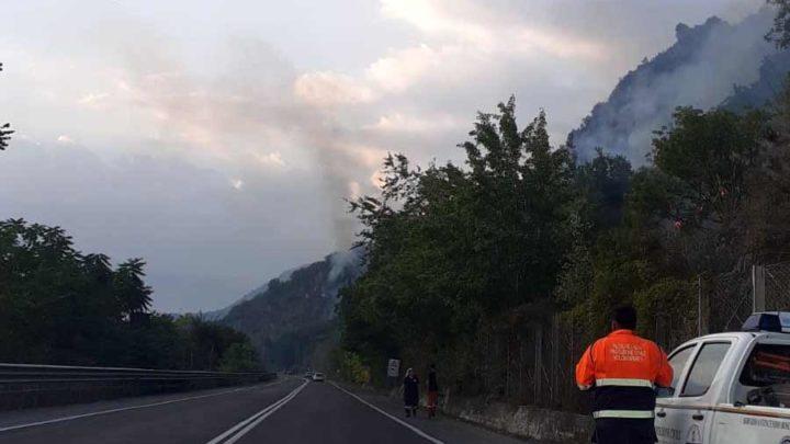 Incendi boschivi, fiamme tra Casalucense e Belmonte Castello