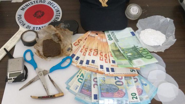 Hashish e cocaina, 27 arrestato a Cassino