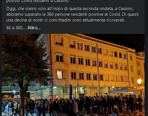 Assembramenti in centro a Cassino, l'ira del sindaco che invoca l'esercito