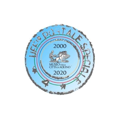 Un logo speciale per celebrare i 20 anni del museo di Aquino