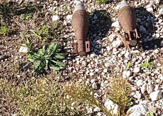 Due bombe da mortaio americane inesplose fatte brillare a Monteroduni