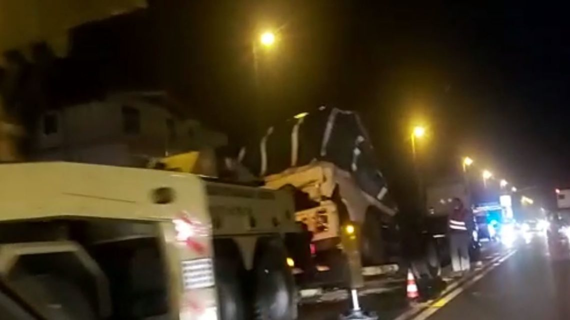 Camion si ribalta sulla superstrada Cassino-Formia, traffico in tilt a Spigno