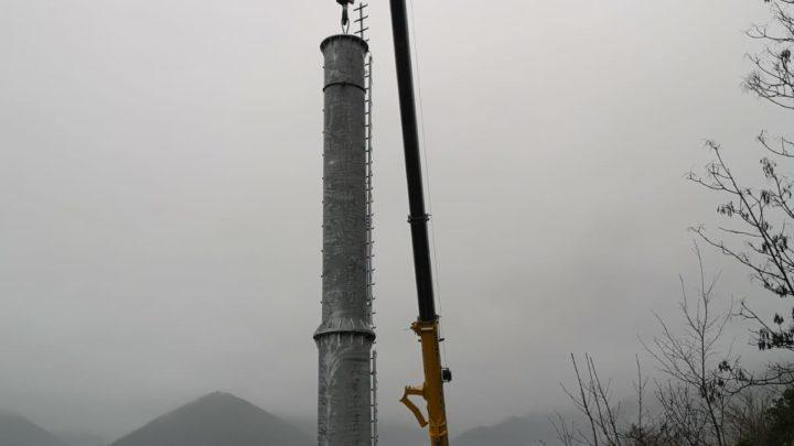 Colle San Magno, posizionata l'antenna per la telefonia mobile