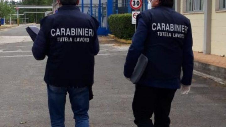 Protocolli anticovid e lavoro nero, multe e controlli dei Carabinieri Ispettorato del Lavoro ad Atina, Villa Latina, Ceprano, Pontecorvo, Fiuggi, ed Anagni,