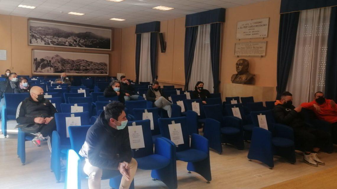 Cassino – Incontro in Comune del Sindaco e dell'Assessore al Commercio con i gestori dei pubblici esercizi
