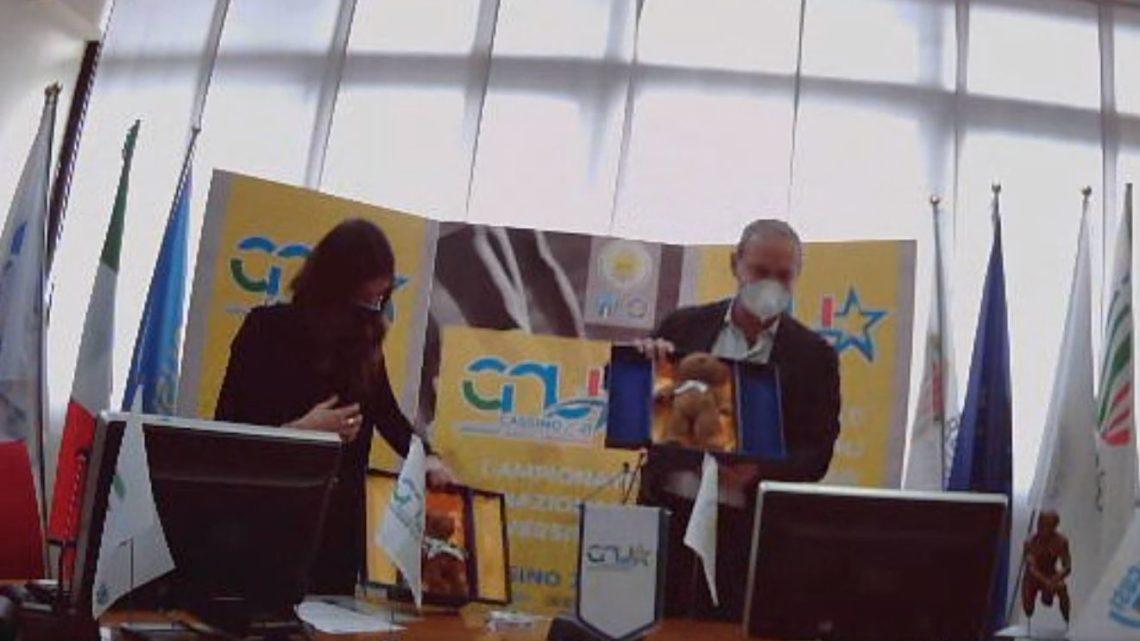 L'orso Wojtek mascotte dei Campionati Nazionali Universitari 2021